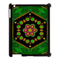 Magic Of Life A Orchid Mandala So Bright Apple Ipad 3/4 Case (black) by pepitasart