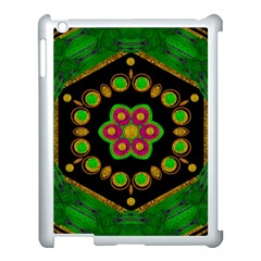 Magic Of Life A Orchid Mandala So Bright Apple Ipad 3/4 Case (white) by pepitasart