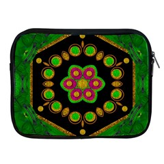 Magic Of Life A Orchid Mandala So Bright Apple Ipad 2/3/4 Zipper Cases by pepitasart