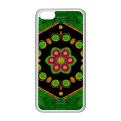 Magic Of Life A Orchid Mandala So Bright Apple Iphone 5c Seamless Case (white) by pepitasart