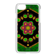 Magic Of Life A Orchid Mandala So Bright Apple Iphone 7 Seamless Case (white) by pepitasart
