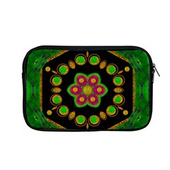 Magic Of Life A Orchid Mandala So Bright Apple Macbook Pro 13  Zipper Case by pepitasart