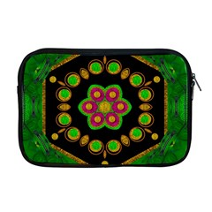 Magic Of Life A Orchid Mandala So Bright Apple Macbook Pro 17  Zipper Case by pepitasart