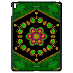 Magic Of Life A Orchid Mandala So Bright Apple Ipad Pro 9 7   Black Seamless Case by pepitasart