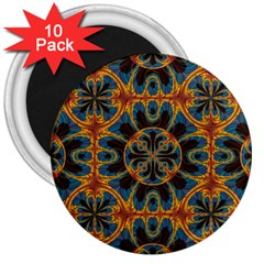 Tapestry Pattern 3  Magnets (10 Pack)  by linceazul
