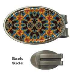 Tapestry Pattern Money Clips (oval)  by linceazul