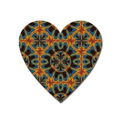 Tapestry Pattern Heart Magnet by linceazul