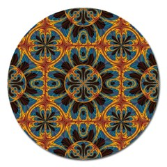 Tapestry Pattern Magnet 5  (round) by linceazul