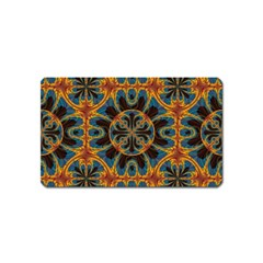 Tapestry Pattern Magnet (name Card) by linceazul