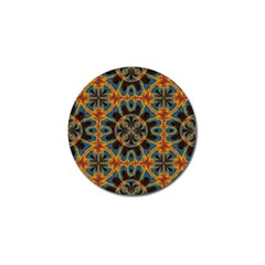 Tapestry Pattern Golf Ball Marker by linceazul