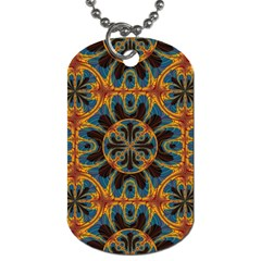 Tapestry Pattern Dog Tag (two Sides) by linceazul