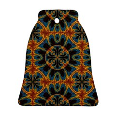 Tapestry Pattern Bell Ornament (two Sides) by linceazul