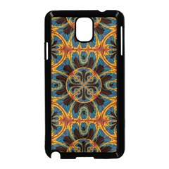 Tapestry Pattern Samsung Galaxy Note 3 Neo Hardshell Case (black) by linceazul