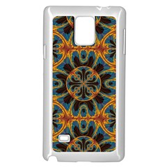 Tapestry Pattern Samsung Galaxy Note 4 Case (white) by linceazul