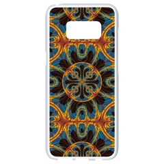 Tapestry Pattern Samsung Galaxy S8 White Seamless Case by linceazul