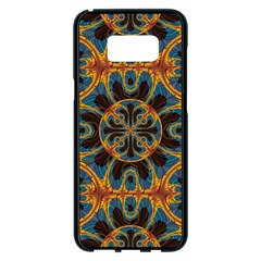 Tapestry Pattern Samsung Galaxy S8 Plus Black Seamless Case by linceazul