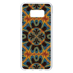 Tapestry Pattern Samsung Galaxy S8 Plus White Seamless Case by linceazul