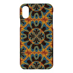 Tapestry Pattern Apple Iphone X Hardshell Case by linceazul
