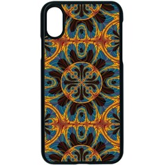 Tapestry Pattern Apple Iphone X Seamless Case (black) by linceazul