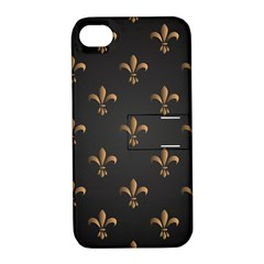 Fleur De Lis Apple Iphone 4/4s Hardshell Case With Stand by 8fugoso