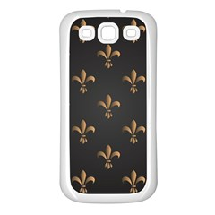 Fleur De Lis Samsung Galaxy S3 Back Case (white) by 8fugoso