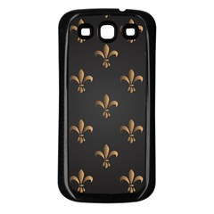 Fleur De Lis Samsung Galaxy S3 Back Case (black) by 8fugoso