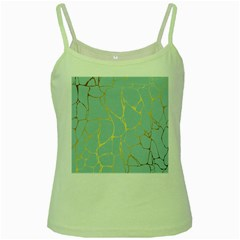 Mint,gold,marble,pattern Green Spaghetti Tank by 8fugoso