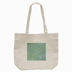 Mint,gold,marble,pattern Tote Bag (cream) by 8fugoso