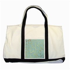 Mint,gold,marble,pattern Two Tone Tote Bag by 8fugoso