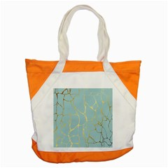 Mint,gold,marble,pattern Accent Tote Bag by 8fugoso