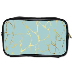 Mint,gold,marble,pattern Toiletries Bags 2 Side by 8fugoso