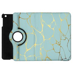 Mint,gold,marble,pattern Apple Ipad Mini Flip 360 Case by 8fugoso