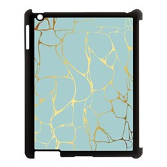 Mint,gold,marble,pattern Apple Ipad 3/4 Case (black) by 8fugoso