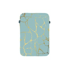 Mint,gold,marble,pattern Apple Ipad Mini Protective Soft Cases by 8fugoso