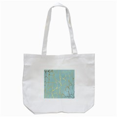 Mint,gold,marble,pattern Tote Bag (white) by 8fugoso