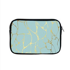 Mint,gold,marble,pattern Apple Macbook Pro 15  Zipper Case by 8fugoso
