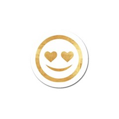 Gold Smiley Face Golf Ball Marker (4 Pack) by 8fugoso
