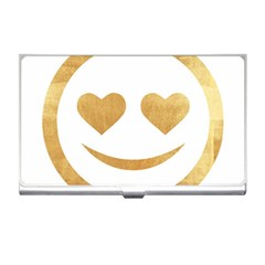Gold Smiley Face Business Card Holders by 8fugoso
