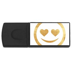 Gold Smiley Face Rectangular Usb Flash Drive by 8fugoso