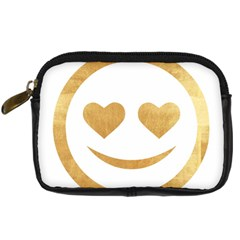 Gold Smiley Face Digital Camera Cases by 8fugoso