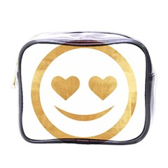 Gold Smiley Face Mini Toiletries Bags by 8fugoso