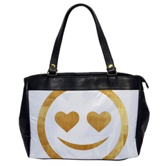 Gold Smiley Face Office Handbags by 8fugoso