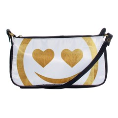 Gold Smiley Face Shoulder Clutch Bags by 8fugoso