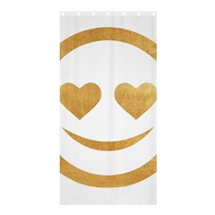 Gold Smiley Face Shower Curtain 36  X 72  (stall)  by 8fugoso