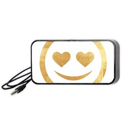 Gold Smiley Face Portable Speaker by 8fugoso