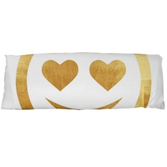 Gold Smiley Face Body Pillow Case Dakimakura (two Sides) by 8fugoso