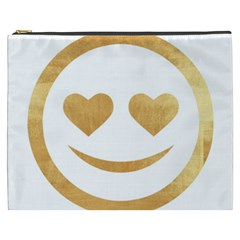 Gold Smiley Face Cosmetic Bag (xxxl)  by 8fugoso
