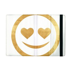 Gold Smiley Face Apple Ipad Mini Flip Case by 8fugoso
