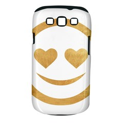 Gold Smiley Face Samsung Galaxy S Iii Classic Hardshell Case (pc+silicone) by 8fugoso