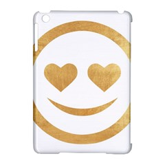 Gold Smiley Face Apple Ipad Mini Hardshell Case (compatible With Smart Cover) by 8fugoso